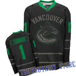 Canucks Black Ice Jersey Hockey Jersey (Logos, Name, Number are sewn