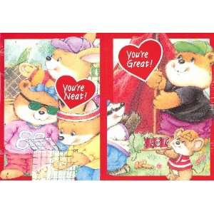 Cute Critters Valentine Cards for Kids & Teacher with Scripture   2