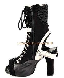 DEMONIA CRYPTO 35 Cyber Punk Futuristic Womens Goth Ankle High Boots