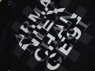 Armani Exchange Broken Logo T shirt Black NWT