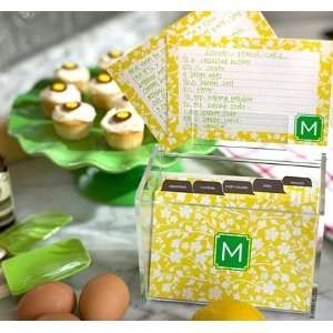 personalized recipe cards & box