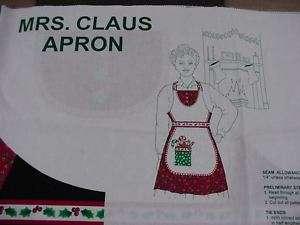 NEW MRS. SANTA CLAUS CHRISTMAS APRON RARE KITCHEN