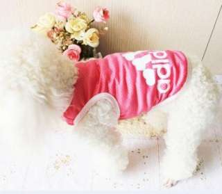 Pet Puppy Dog Summer Cool vest Clothes Clothing Cute