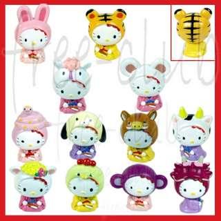 Japanese HELLO KITTY Chinese Year Zodiac Figure Set 12p