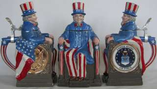 Air Force Uncle Sam character beer stein