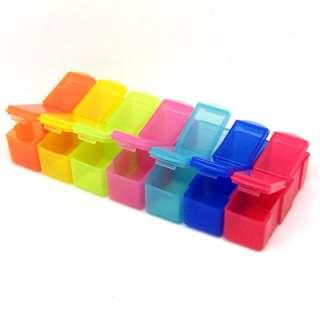 Days Colour Medicine Pill Tablet Box Case Holder