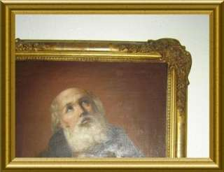 ANTIQUE ITALIAN C.1820 SAINT PAUL PORTRAIT OIL PAINTING