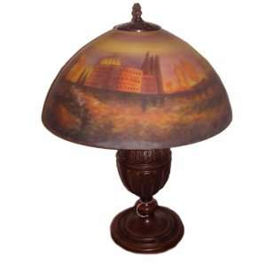 Reese Reverse Painted Glass Shade Lamp