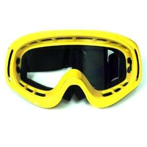 Motocross ATV Dirt Bike Ski Snowboard MX Goggles , Yellow