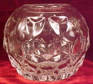 Lovely FOSTORIA AMERICAN GLASS ROSE BOWL VASE Free Ship