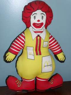 Vintage 1984 McDonalds RONALD MCDONALD stuffed DOLL |