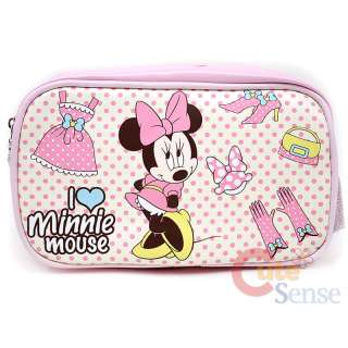 Disney Minnie Mouse Cosmetic Bag /Pencil Pouch Bag  Pink Dots