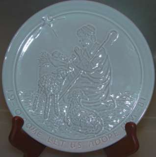 FRANKOMA Christmas Plate 1981 O, Come Let Us Adore Him