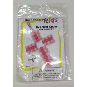 Pony Bead Cross Kids Kit   Pink (The Beadery 5217