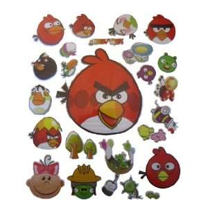 Angry Birds Puff Stickers 3 Large 8x10 Sheets   72 Pc