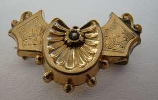Antique Victorian Gold Filled Bat Watch Pin