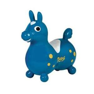 Rody Horse Childrens Rocking Horse Color is Teal Blue Toys & Games