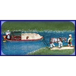 Abington Canal Boat (Set of 2)   Department 56 (Retired