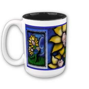 Mother Flower in The Moonlight Coffee Mug Home & Kitchen