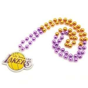 Los Angeles Lakers Logo Medallion Beaded neclace