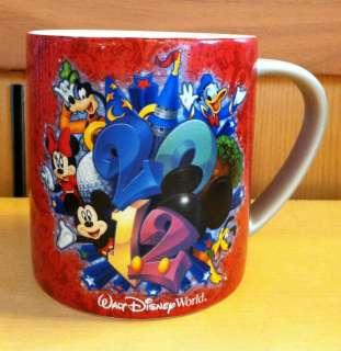 Disney World WDW 2012 Mickey and Friends Ceramic Coffee Mug NEW
