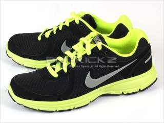 Nike Air Relentless Black/Metallic Cool Grey Volt Yellow 2011 443844
