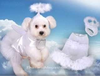Dog Apparel PP136a Costume Dress Shirt Pet Cloth ANGEL