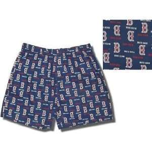 Red Sox, cotton broadcloth boxer shorts for boys: Sports & Outdoors
