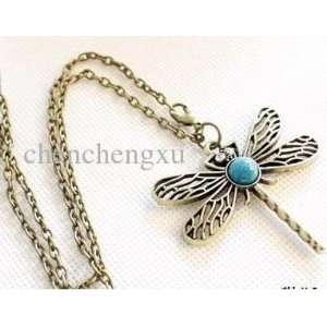 Pendant Necklace Woman Girl Sweater Jewellery Necklaces Bohemian Blue