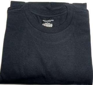BLACK COLOR Soft cotton construction Classic crew neck t shirts