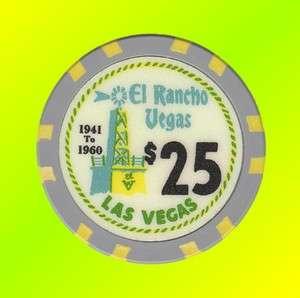EL RANCHO VEGAS   Las Vegas   FANTASY COMMEMORATIVE POKER CHIP