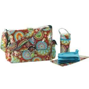 Gypsy Paisley Red Diaper Bag: Baby