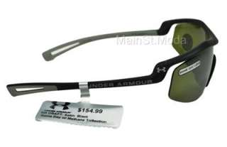 Under Armour Sunglasses Satin Black DRAFT Game Day Lens Triflection NP