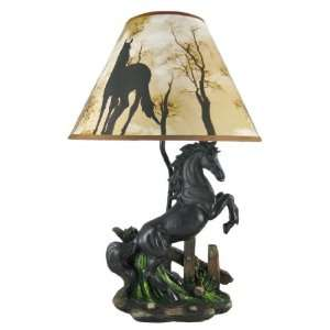 BLACK Rearing Horse Lamp: Home Improvement