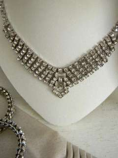 Drop Dead Gorgeous VINTAGE Prong Set Sparkling Rhinestone Necklace