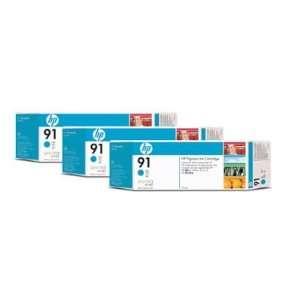 HEWLETT PACKARD HP 91 Cyan 3 Ink Multi Pack Deliver