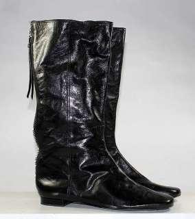 COACH BRAND BLACK LEATHER MID CALF FASHION ZIPPER BOOTS WOMENS sz 10 B