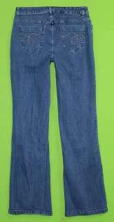 sz 6 x 32 Stretch Womens Blue Jeans Denim Pants Dungarees FN9