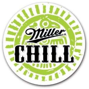 Miller Chill American Beer Label Car Bumper Sticker Decal