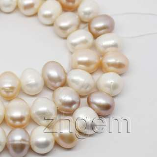wholesale 5strands natural pearl loose beads white pink lavender 7