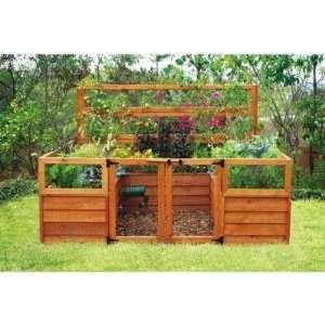 how to build a tiered raised strawberry bed