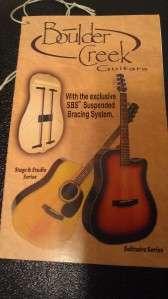 Boulder Creek Solitaire ECR1 n Acoustic Electric Guitar Solid Woods