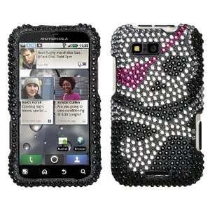 Motorola Defy MB525 Full Diamond Bling Graphic Case   Skull (free Anti