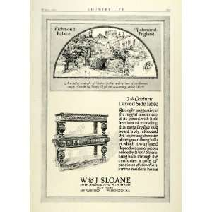 1922 Ad W&J Sloane Furniture Richmond Palace England Tudor