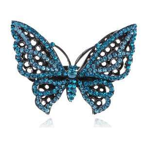 Crystal Rhinestone Butterfly Costume Fashion Adjustable Ring Jewelry
