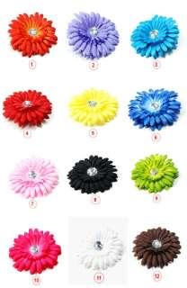 Cute Large Daisy Flower Hair Bow Clip for Baby Girl Kids Crochet