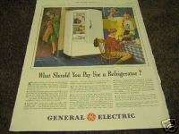 1941 Antique General Electric Refrigerator What Pay Ad