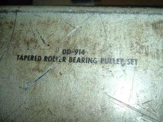 Kent Moore Tapered Roller Bearing Puller Set, DD 914