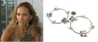 Silver Butterfly Hoops Earring Basketball Wives PoParazzi Inspired