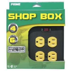 Prime PB001005 Four Outlet Shop Box Metal Housing Lighted